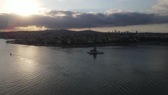Thumbnail for Sunrise at Uskudar of Istanbul Drone Shot