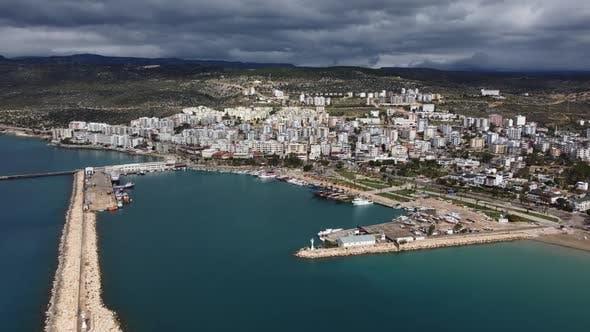 Harbor on Antalya City Coast