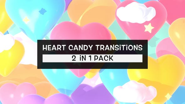 Thumbnail for Isolated Heart Candy Transitions Pack