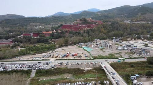 Parking Lots of Scenic Spots in Shanxi, China