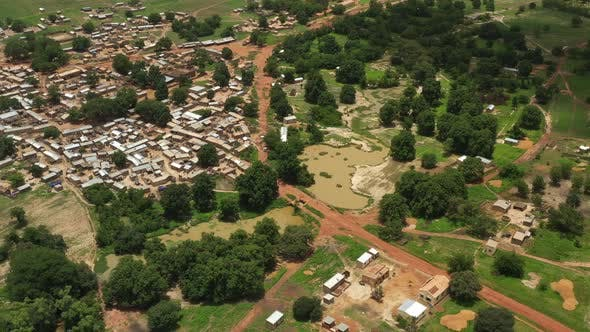 Cover Image for Africa Mali Village Aerial View