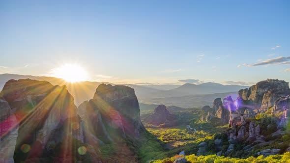 Thumbnail for Sunset Over the Greek Rock Monastery