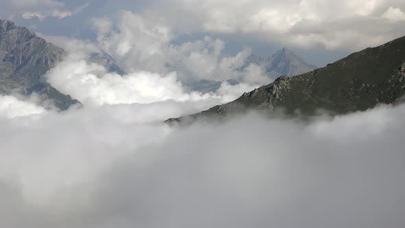 Thumbnail for Clouds Covered Large Deep Valley