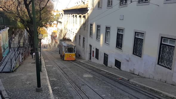 Thumbnail for Lisbon City - Old Street - Tramway Car II