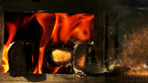 Cover Image for Wooden Fire Burning