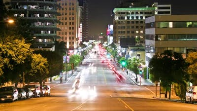 Hollywood Traffic Time Lapse