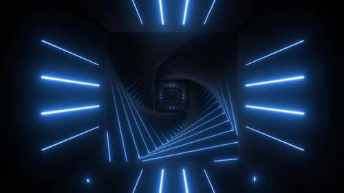 4k Colored Spiral Neon Tunnels Pack