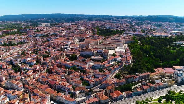 Thumbnail for Flying Over Streets and Houses of Coimbra, Portugal.