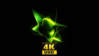Morphing An Abstract Green Shape 4K
