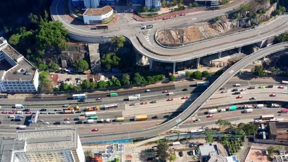 Thumbnail for Top down view of Hong Kong traffic