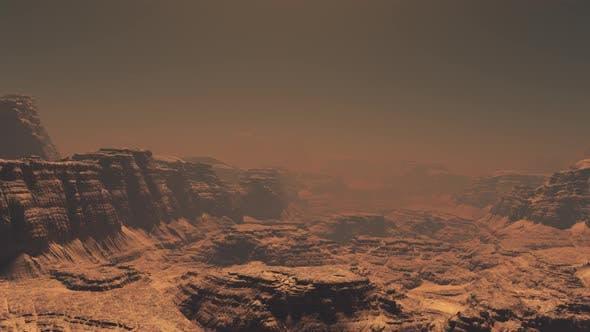 Thumbnail for Flying On Mars Mountain 04 4K