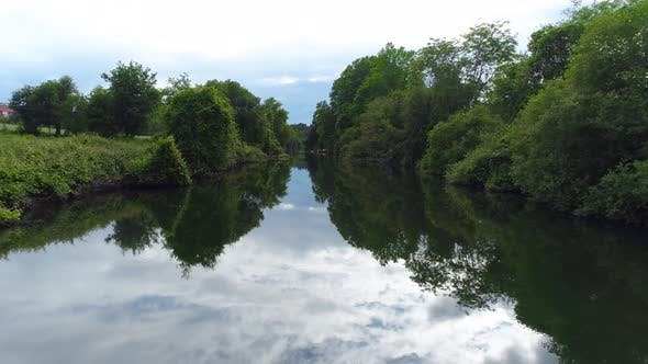 Thumbnail for Summer Landscape of Small River