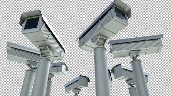 Security Multi Cameras Alpha Channel