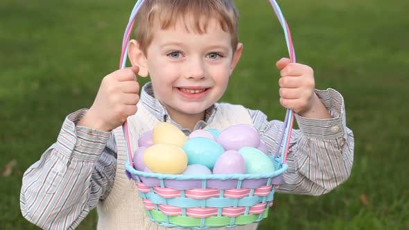 Thumbnail for Boy with Easter basket