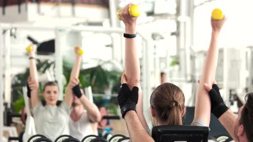Female Person Working Out at Gym.