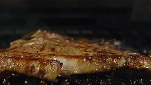 Juicy T-Bone Steak With Grill Marks 43b
