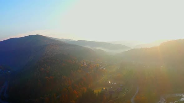 Thumbnail for Aerial Drone Video Flying Over Carpathians Mountains, Ukraine, Europe