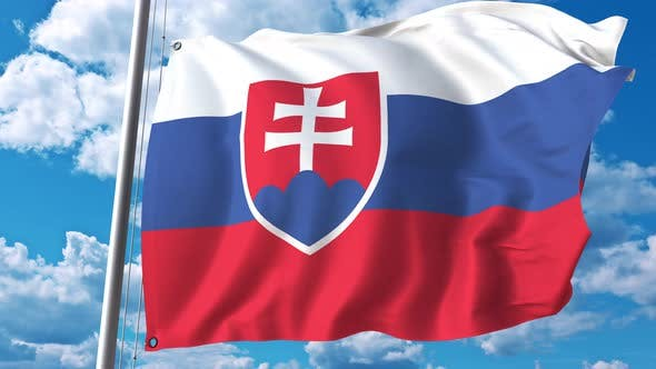 Thumbnail for Flag of Slovakia on Sky Background
