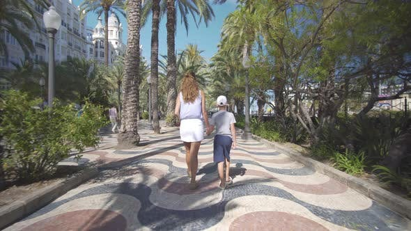 Thumbnail for Happy Family Outdoors. Mother and Son Walk Near the Sea