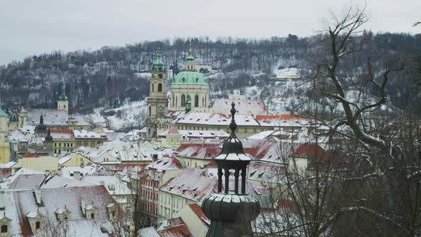 Thumbnail for Snowy rooftops in Prague