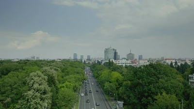 Skyline Aerial Landscape of Metropolitan City