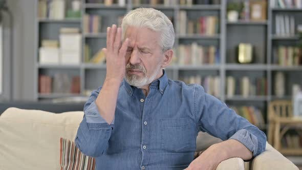 Reacting To Loss, Disappointed Old Man