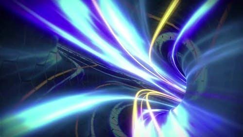 Blue Wormhole Travel - Science Fiction Space Exploration