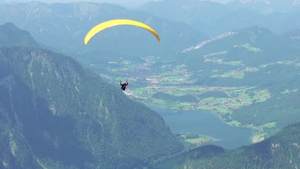 Thumbnail for Paraglider Over the Summer Valley