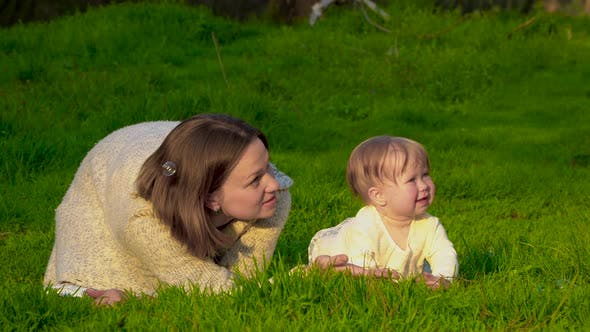 Thumbnail for Mom with Her Daughter in the Park