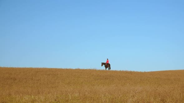 Thumbnail for Girl Rider Riding a Horse