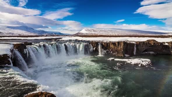 Thumbnail for Godafoss Waterfall on Skjalfandafljot River Iceland