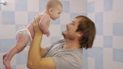 Father and Baby Spend Time Together