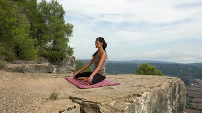 woman yoga meditation peace exercise spiritual