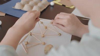 Building Model of Plasticine and Toothpicks