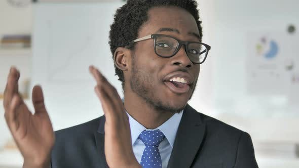Thumbnail for Applauding, Clapping African Businessman