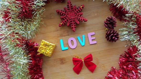 Thumbnail for Love Word with Christmas Decoration