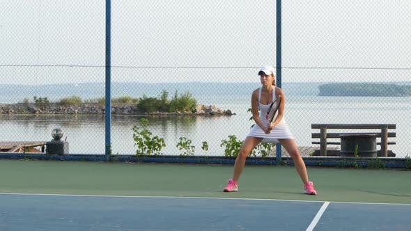 Thumbnail for Female Tennis Player in Action