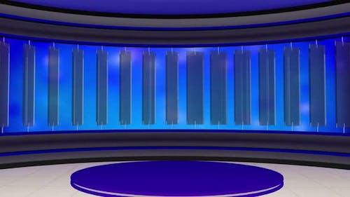 Virtual Entertainment Studio Set Background 3
