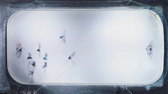 Thumbnail for Playing Ice Hockey on Ice Rink