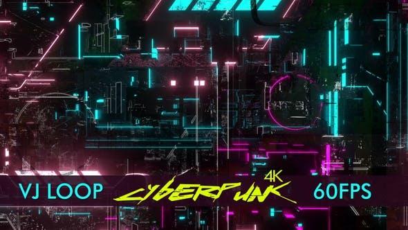 Thumbnail for 4k Cyberpunk Dunkel Vj Schleife