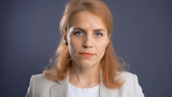 Thumbnail for Close Up Face Redhead Woman Has Headache