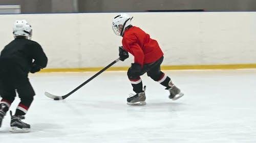 Novice Forward Preventing Goal