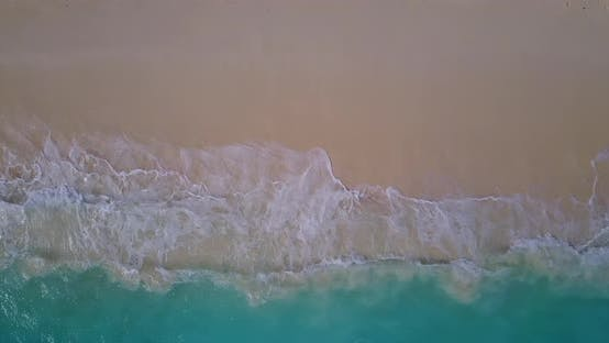 Thumbnail for Natural Above Travel Shot of A White Paradise Beach and Blue Ocean Background