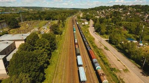 Güterzug auf der Eisenbahn