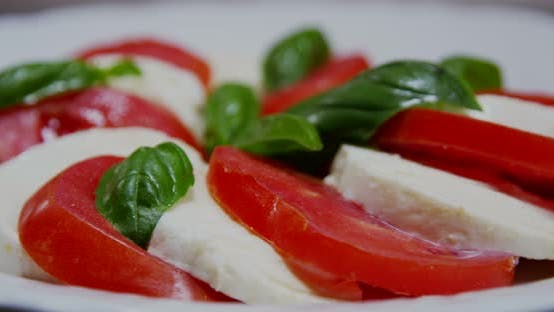 Thumbnail for Italian Caprese Salad With Mozzarella And Tomato 01b