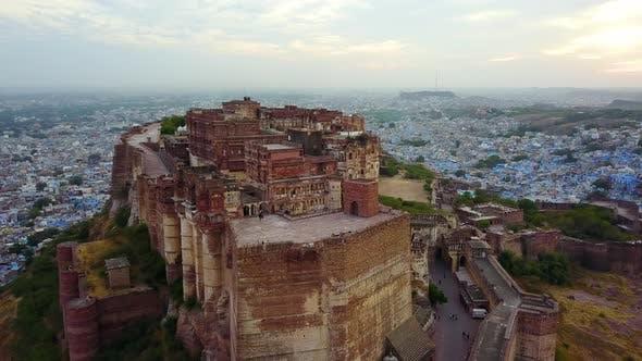 Thumbnail for Aerial View of Mehrangarh Fort in Jodhpur, Rajasthan, India.