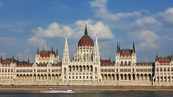 Thumbnail for Budapest - Parliament at Day- Time Lapse. Hungary