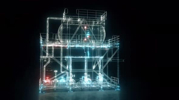 Thumbnail for Industrial Condensate Module Hud Hologram Scanning 4k