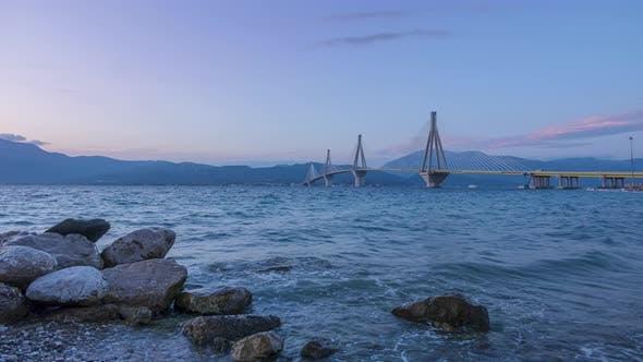 Griechische Brücke Rio-Antirion