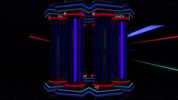 Thumbnail for Neon Columns 4K
